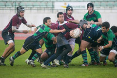 Caldas Rugby Clube VS Clube Rugby de Evora Royalty Free Stock Photos