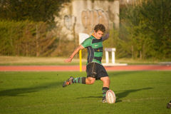 Caldas Rugby Clube VS Clube Rugby de Evora Royalty Free Stock Photo