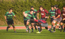 Caldas Rugby Clube VS Clube Rugby de Evora Royalty Free Stock Images