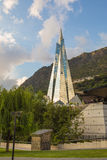 Caldea Spa Resort Andorra. The Caldea Spa resort in Escaldes-Engordany town of Andorra is Europe's largest spa with 6000 square meters and the tallest building Royalty Free Stock Photography