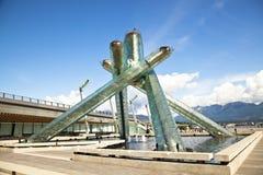 Caldeirão olímpico de Vancôver Foto de Stock Royalty Free