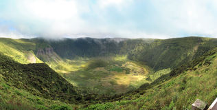 Caldeira火山口Faial -亚速尔群岛 图库摄影