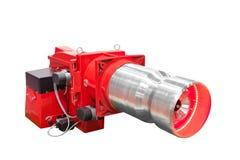 A caldeira de gás moderna da olá!-tecnologia industrial reveste isolado no fundo branco imagem de stock