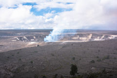 Caldeira de Kilauea en grande île, Hawaï Photographie stock libre de droits