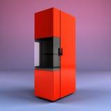 A caldeira de madeira 3d rende no fundo do inclinação ilustração stock