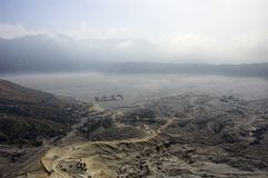 Caldeira di Bromo Volcan Fotografia Stock Libera da Diritti