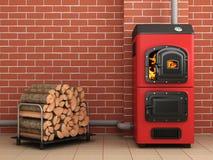 Caldeira do combustível contínuo Sala de caldeira Foto de Stock Royalty Free