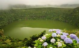 Caldeira Funda湖 库存照片