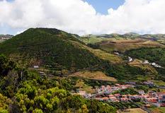 Caldeira sur l'île de Jorge de sao Image libre de droits