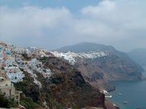 Caldeira sur l'île Santorin Images stock