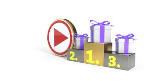 Caldeiras video que ganham o fundo do conceito, rendição 3d ilustração stock