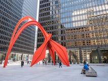 Calder's Flamingo, Chicago, Illinois Royalty Free Stock Photography