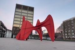 Calder sculpture in Grand Rapids Royalty Free Stock Photo