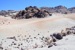 Caldera. Landscape near Pico del teide on teneriffa island Royalty Free Stock Image