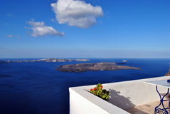 Caldera. View in Santorini island (Greece stock photography
