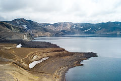 Caldera Askja, Iceland. Askja is a caldera situated in a remote part of the central highlands of Iceland stock image