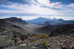Caldera av den Haleakala vulkan i den Maui ön Royaltyfria Foton