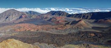 Caldera av den Haleakala vulkan - Maui, Hawaii arkivfoto