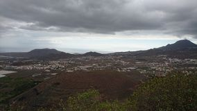 Caldera av Teide Tenerife arkivbild