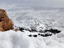 Caldera av vulkan Pico del Teide, royaltyfri fotografi