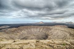 Caldera Blanca, Lanzarote, Canary Islands. Royalty Free Stock Images