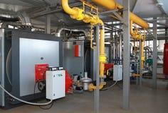 Caldera-casa moderna del gas Imágenes de archivo libres de regalías