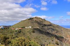 Caldera de Bandama - a place where used to be a volcanic crater in Gran Canaria. In Spain stock photo