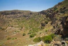 Caldera de Bandama. Volcanic caldera, Inland Gran Canaria royalty free stock photography