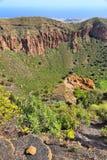 Caldera de Bandama. Volcanic landscape of Gran Canaria, Spain royalty free stock photo