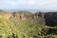 Gran Canaria hole. Caldera de Bandama - volcanic landscape of Gran Canaria, Spain royalty free stock photography