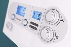 Caldera de gas elegante del hogar del panel de control  imágenes de archivo libres de regalías