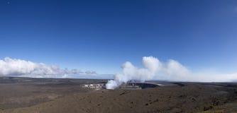 Caldera de Kilauea imagem de stock