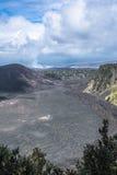 Caldera de Kilauea nos vulcões parque nacional, Havaí Fotos de Stock Royalty Free