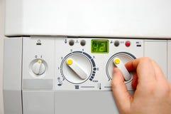 Caldera de la calefacción de la casa Foto de archivo libre de regalías