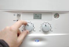 Caldera de la calefacción de la casa Imagenes de archivo