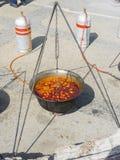 Caldera de la sopa de los pescados Foto de archivo libre de regalías