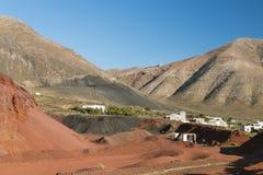 Caldera de Masian i Lanzarote, Spanien arkivfoto