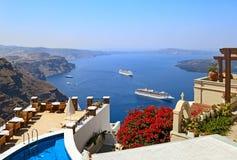 Caldera de Santorini fotografia de stock royalty free