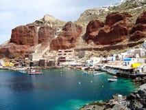 Caldera de Santorini imágenes de archivo libres de regalías