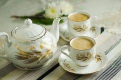 Caldera de té fotografía de archivo