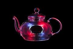 Caldera de té de cristal Imagen de archivo