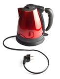 Caldera de té eléctrica roja y negra Fotos de archivo