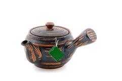 Caldera de té japonesa Imagenes de archivo