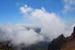 Caldera de Taburiente en el La Palma, islas Canarias, España Foto de archivo