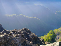 Caldera de Taburiente National Park on La Palma Royalty Free Stock Photos