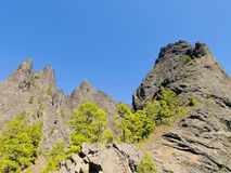 Caldera de Taburiente National Park on La Palma Stock Image