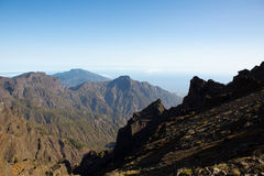 Caldera de Taburiente sea of clouds La Palma Stock Image