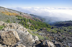 Caldera de Taburiente sea of clouds in La Palma Canary Islands Stock Photos
