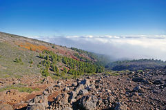 Caldera de Taburiente sea of clouds in La Palma Canary Islands Stock Image