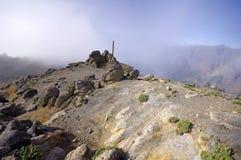 Caldera de Taburiente sea of clouds in La Palma Canary Islands Royalty Free Stock Photos
